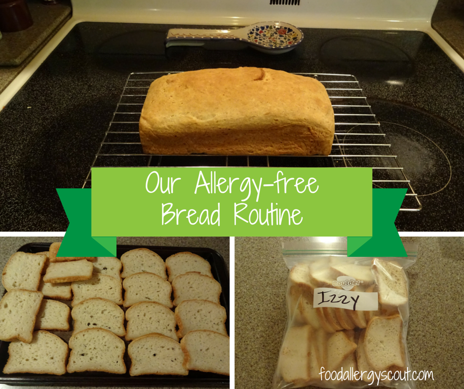 allergy-free bread routine collage