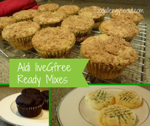 Ready Mixes for Cupcakes, Cookies, & Brownies: Aldi liveGfree Product Review