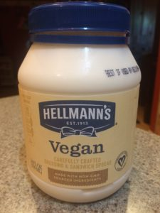 Photo of Hellmann's brand vegan mayonnaise substitute