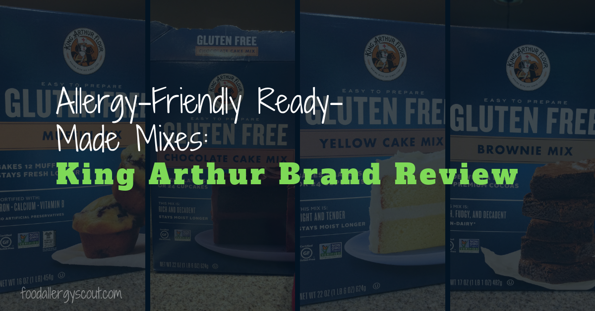 Pictures of allergy-friendly ready-made mixes, King Arthur brand